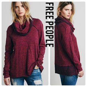 FREE PEOPLE Beach Cocoon Cowl Neck Pullover